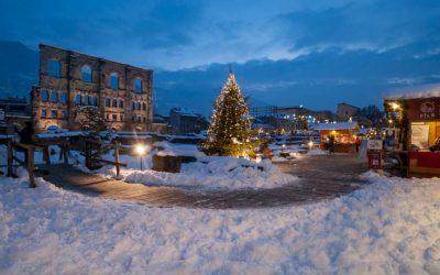"""Aosta e il """"Marché Vert""""- mercatino di Natale"""