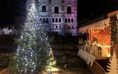"""Aosta e il """"Marché Vert"""", mercatino di Natale nel cuore della città romana"""