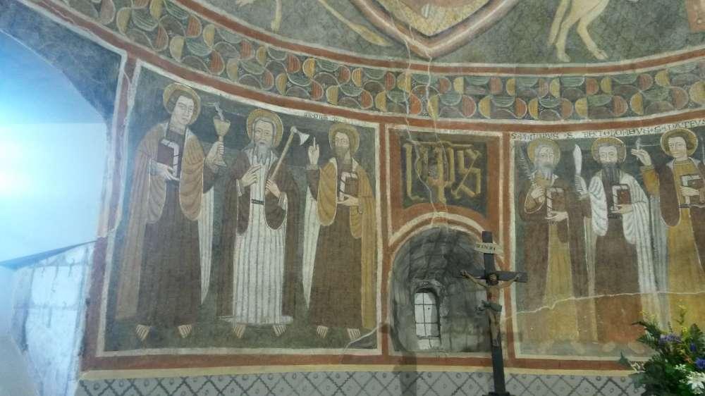 Affreschi chiesa Gressan