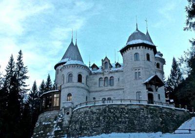 Castel Savoia Gressoney inverno