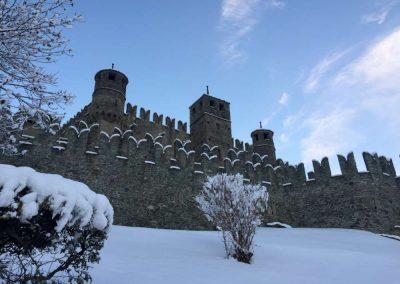 Castello di Fénis inverno , visita